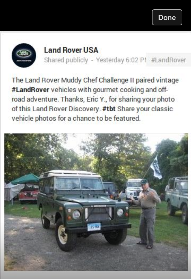 land rover usa muddy chef challenge