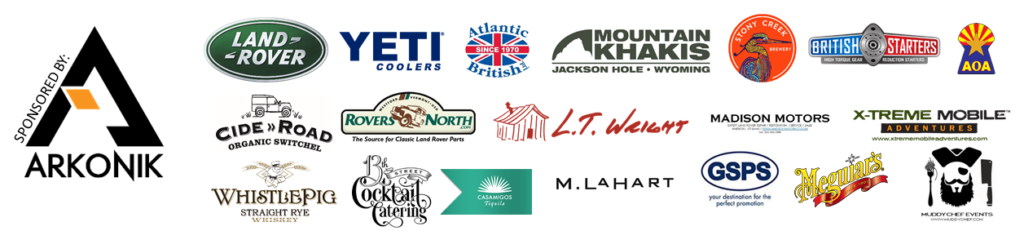 LAND ROVER MUDDY CHEF SPONSOR LIST 2017