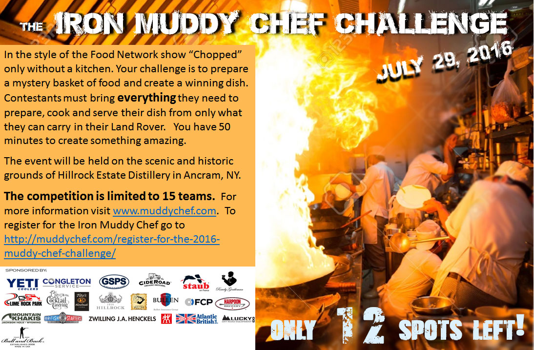 the land rover iron muddy chef contest